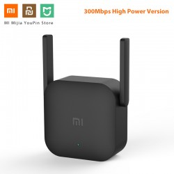 Original Xiaomi 300M WiFi Router Amplifier Pro Network Expander Repeater Power Extender Roteador 2 Antenna for Mi Router Wi-Fi