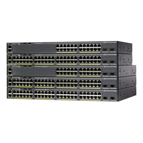 Catalyst 2960-X 48 GigE PoE 740W, 2 x 10G SFP+, LAN Base