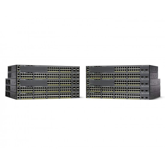 Cisco Catalyst 2960-X 24 GigE PoE 370W, 4 x 1G SFP, LAN Base