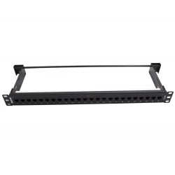 BELDEN CAT6+ KeyConnect Patch Panel, 24-port, 1U, Black AX103253