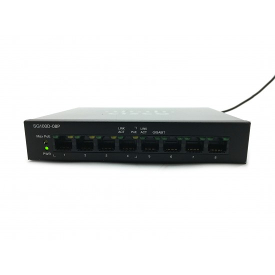 Cisco SG100D-08P 8-Port PoE Gigabit Desktop Switch